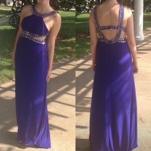 Violet Sequined Prom Dress
